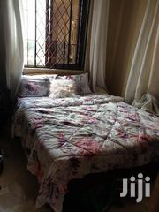 Simple Mahogany Bed With Heavy Duty Mattress | Furniture for sale in Mombasa, Bamburi