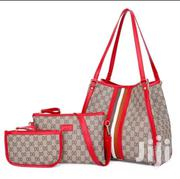 3 in 1 Vintage Print Handbag With Red Straps | Bags for sale in Nairobi, Nairobi Central