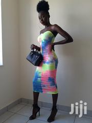Multi Colour Strapless Long Dress(Streachable) | Clothing for sale in Nairobi, Kahawa