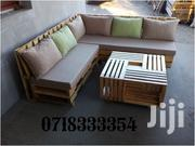 Simple Contemporary Quality 6 Seater Sectional Pallet Sofa + Table | Furniture for sale in Nairobi, Ngara