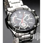 Casio Black White Dial Chronograph Silver Stainless Steel Watch | Watches for sale in Nairobi, Nairobi Central