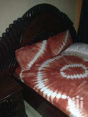 Hardwood Bed Plus Mattress And 2 Side Cabinets | Furniture for sale in Nairobi, Lower Savannah
