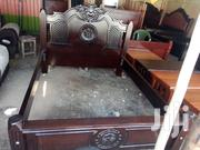 Wooden Bed Mahogany 5by6 Ready To Sell | Furniture for sale in Nairobi, Umoja II