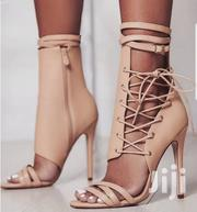 Nude Side Lace High Heels | Shoes for sale in Nairobi, Kahawa
