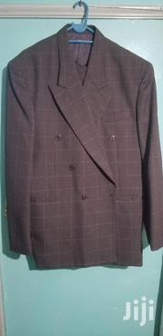 """Italian Made Purple Double Breasted Dino Divinci Suit Size 44""""r/Large 