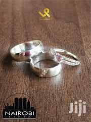 Custom Made 3 Pieces Couples Sterling Silver Wedding Ring Bands | Jewelry for sale in Nairobi, Nairobi Central