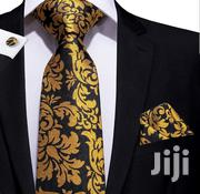 Black Gold Novelty Necktie And Matching Cufflinks Set | Clothing Accessories for sale in Nairobi, Pangani