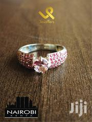 Ladies Sterling Silver With Synthetic Ruby Engagement Ring | Jewelry for sale in Nairobi, Nairobi Central
