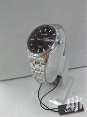 Silver Watch With Black Dial | Watches for sale in Nairobi, Nairobi Central