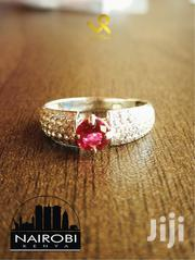 Ladies Centre Synthetic Ruby Sterling Silver Engagement Ring | Jewelry for sale in Nairobi, Nairobi Central