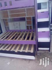 Triple Decker Bed With Shelve Side Draws And Upper Bed Steps | Furniture for sale in Mombasa, Shanzu