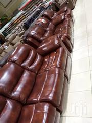 Six Sitter Genuine Leather Recliner | Furniture for sale in Nairobi, Kariobangi South
