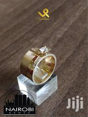 Ladies Bejewelled Engagement/Wedding Ring 18k Gold Custom Made. 12mm | Jewelry for sale in Nairobi, Nairobi Central
