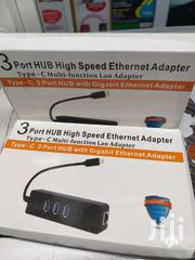 Type C To Usb Hub +Lan Port | Computer Accessories  for sale in Nairobi, Nairobi Central