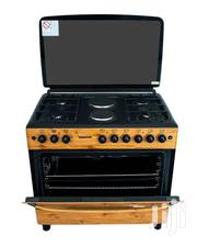 Bruhm 90X60 Cooker. 4 Gas + 2 HP, Wood Finish Color | Kitchen Appliances for sale in Nairobi, Nairobi Central