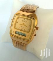 Casio Rectangular Digital/Analog Gold Stainless Steel Watch at 4500ksh | Watches for sale in Nairobi, Nairobi Central
