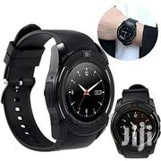 Unisex V8 Bluetooth Smart Watch Round Touch Screen SIM GSM | Smart Watches & Trackers for sale in Nairobi, Kasarani