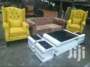 3 Seater Sofa/Wingchairs/3 Seater Chesterfield Sofa+2 Wingback Chairs | Furniture for sale in Nairobi, Ziwani/Kariokor