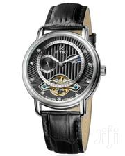 Eyki Elegant Black Dial Automatic Leather Watch | Watches for sale in Nairobi, Nairobi Central