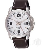Casio Mens Brown Leather Watch With Date, Water Proof, 5yr Battery | Watches for sale in Nairobi, Nairobi West