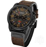 Curren Mens Chronograph Watch, Leather Strap | Watches for sale in Nairobi, Nairobi West
