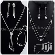 Sterling Silver Matching Necklace Set With Bracelet | Jewelry for sale in Nairobi, Nairobi Central