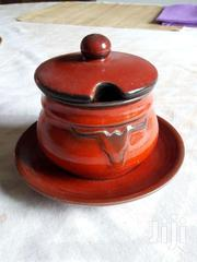 Red Glazed Pottery Sauce Pot And Saucer | Kitchen & Dining for sale in Nairobi, Kitisuru