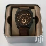 Fossil FS4656 Machine Mid-Size Chronograph Brown Leather Men's Watch | Watches for sale in Nairobi, Nairobi Central