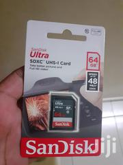 Genuine Sandisk Ultra SD Card For Cameras (64GB- Class 10) | Accessories & Supplies for Electronics for sale in Mombasa, Majengo