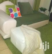 White Leather Sofabed With Leg Rest   Furniture for sale in Nairobi, Riruta
