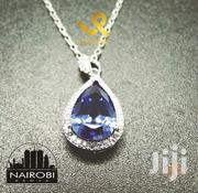 Ladies Sterling Silver Pendant N Necklace With Synthetic Tanzanite | Jewelry for sale in Nairobi, Nairobi Central