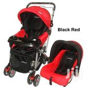 3 In 1 Baby Stroller Set- Red & Black Plus Free Gift | Prams & Strollers for sale in Nairobi, Westlands
