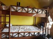 """Mahogony Wood Bunk Bed With Mattresses In Immaculate Condition"""""""" 