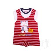 2 Pc Dungaree Set( White T-shirt And Dungaree) Baby Clothes | Children's Clothing for sale in Nairobi, Westlands