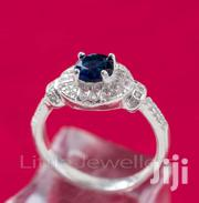 Sterling Silver CZ Sapphire Engagement Ring | Jewelry for sale in Nairobi, Nairobi Central