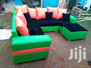 Green Leather Sofa | Furniture for sale in Uasin Gishu, Kimumu