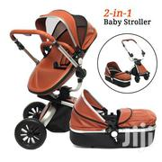 Baby Stroller 2in1 Leather Carriage Infant Cot Foldable Pram Pushchair | Prams & Strollers for sale in Nairobi, Westlands