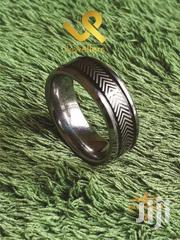 Black Center Engraved Tungsten  Carbide Wedding Band Ring | Jewelry for sale in Nairobi, Lower Savannah