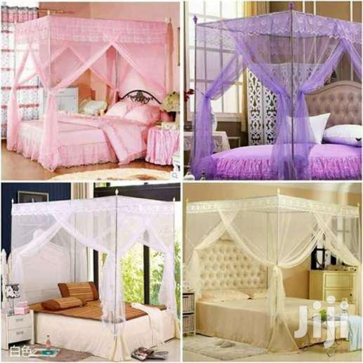 Mosquito Net Four Firm Stands(Metallic)