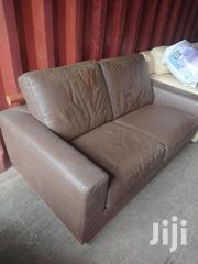 Real Leather Brown 2 And 1 Seater EX-UK Sofa | Furniture for sale in Nairobi, Embakasi