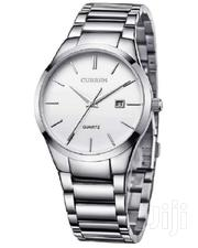 CURREN SILVER STAINLESS STEEL LUXURY WRIST WATCH WITH WHITE DIAL | Watches for sale in Nairobi, Nairobi Central