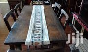 Hardwood Dinning Table With 6 Chairs ( 2 With Arms 4 Without Arms) | Furniture for sale in Mombasa, Mkomani