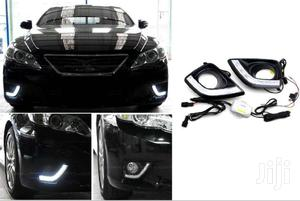 Premium Fog Covers ONLY With DRL: For Toyota Mark X (New Model)