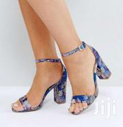 BLUE FLORAL BLOCK HEELS | Clothing for sale in Nairobi, Nairobi Central
