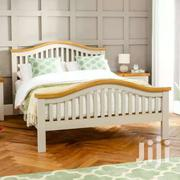 White Bed With A Curved Head Board | Furniture for sale in Nairobi, Karen