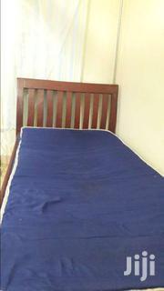 3.5 By 6 Hardwood Bed With Free Mattress | Furniture for sale in Nairobi, Ngando