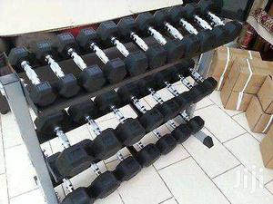 Commercial 3-tier Dumbbell Rack