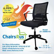 Mid Back Ergonomic Office Chair With Mesh Back & PU Leather Seat | Furniture for sale in Nairobi, Baba Dogo