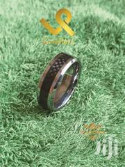 Centre Black Carbon Fiber Tungsten Carbide Wedding Band Ring | Jewelry for sale in Nairobi, Lower Savannah