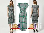 Grey & Green Check Midi Wrap Dress From UK | Clothing for sale in Nairobi, Mugumo-Ini (Langata)
